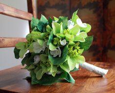 White Oleander and Green Cottage Hydrangea Bridal by BlumeBloom, $65.00