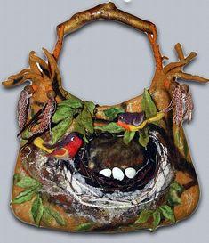 Extraordinary, fabulous handbags Catherine Tasminskoy. The family of birds.