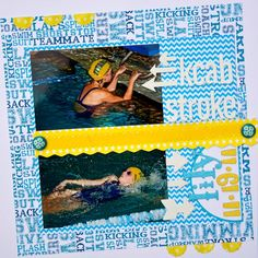 Scrappin' Sports & More: Backstroke