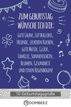 🎉 10 free birthday cards to print and give away 🎉 - Sprüche ♥ Karten ♥ Wünsche - Free Birthday Greetings, Free Birthday Card, Diy Birthday, Birthday Wishes, Birthday Cards To Print, Funny Birthday Cards, Cute Text, Told You So, Lettering