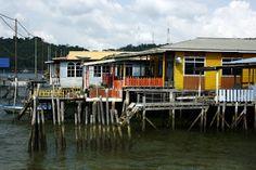"Das berühmte ""Water Village"" in Bandar Seri Begawan, Bruneis Hauptstadt"