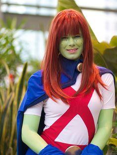 Miss Martian cosplay by Jeff Slostad, via Flickr