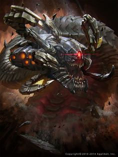 Wurmcoil Engine If you have any suggestions for a card you would like to see let me know. Monster Concept Art, Robot Concept Art, Creature Concept Art, Fantasy Monster, Monster Art, Creature Design, Robot Monster, Fantasy Character Design, Character Art