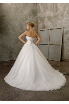 Taffeta and Tulle with Embroidery a-line wedding dress