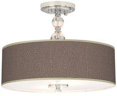 Crystal Seafan Taupe Stacy Garcia Semi-Flush Ceiling Light - EuroStyleLighting.com