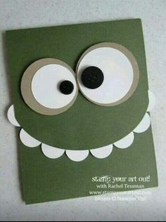 Green with Eyeballs On Top Toothy monster card… - Stampin' Up!® - Stamp Your Art Out! Toothy monster card… - Stampin' Up!® - Stamp Your Art Out! Boy Cards, Kids Cards, Cards Diy, Tarjetas Diy, Punch Art Cards, Karten Diy, Kids Birthday Cards, Birthday Sayings, Sister Birthday