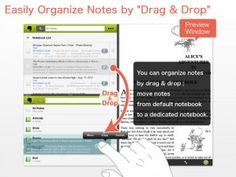 EverCrane - perhaps the best companion to Evernote available on your iPad: At the least, it simplifies the process of getting organized.  performs a simple organizational task, but does it so well it's mind numbing. It allows you to view all of your Evernote journals and note stacks in a desktop style viewer, exactly as you might view them on your Windows or Mac and simply drag the files around to reorder them. Simply pick up an object, drag it into place on Evernote, and you're done!