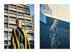 Left: Coat and shirt, both Stephanie Davidson; skirt, Salwa McGill. Right: Dress, Stephanie Davidson; coat, Kelly Dawn Riot. Styling: Alexandra Fiddes Photographs: Igor Termenon