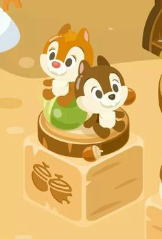 Chip & dale chibi disney, disney and dreamworks, disney art, disney magic