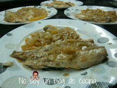 NO SOY UN BLOG DE COCINA→ Recetas paso a paso con imágenes: LUBINA EN SALSA CON PATATAS