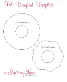 felt donut template Donut Party, Donut Birthday Parties, 3rd Birthday, Birthday Party Themes, Birthday Cards, Birthday Ideas, Grown Up Parties, Fathers Day Crafts, Dad Crafts
