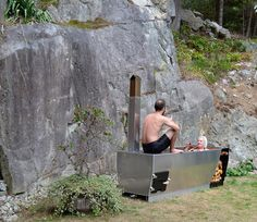 outdoor soaking tub for two people | Wood Barrel Round Soaking Tub ...
