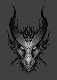 Spitfyah Dragon Head - Lawrence Mann – Digital Artist - A Elsanatı - . - Spitfyah Dragon Head – Lawrence Mann – Digital Artist – A Elsanatı – … – Style - Dragon Tattoo Drawing, Dragon Head Tattoo, Dragon Mask, Dragon Tattoo Designs, Tatoo Art, Tattoo Ink, Arm Tattoo, Cool Dragon Drawings, Tribal Dragon Tattoos