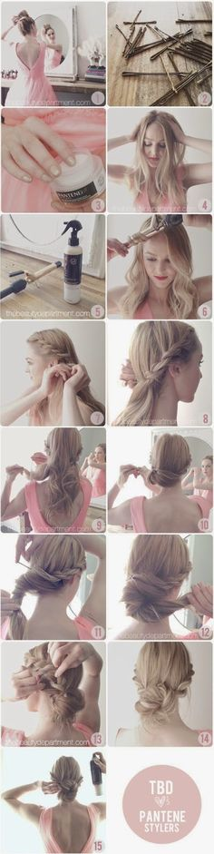Best Hair Braiding Tutorials – Rop Braid Chignon – Easy Step by Step Tutorials f… - Beauty Braided Hairstyles Tutorials, Up Hairstyles, Pretty Hairstyles, Wedding Hairstyles, Hairstyle Tutorials, Hairstyle Ideas, Braided Chignon, Chignon Hair, Twisted Updo