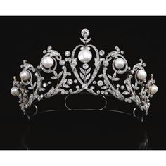 Diamond and Pearl Tiara--I just love, love, love diamonds and pearls!!!