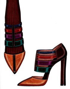 STEVE GOSS FALL 2013 SHOE COLLECTION--VELVET WITH LIZARD TRIM