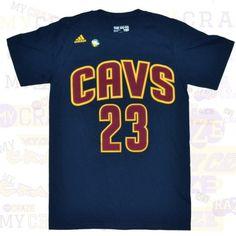 CLEVELAND CAVALIERS #23 JAMES CAVS ADIDAS NBA JERSEY NAVY T-SHIRT  #Tshirt #NBA #Adidas #Cavs #ClevelandCavaliers