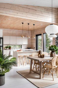 Open Living Area, Small Living, Evolution Architecture, Modern Architecture, Cabin Interiors, Scandinavian Interior, Log Homes, Modern Interior Design, House Design