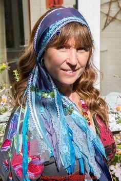 Blue Taffeta Stunning Bohemian Gypsy Alternative by RagsForGypsies
