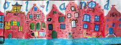 Kids Artists: Dutch canal houses groupwork