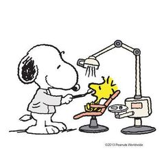 Snoopy and Woodstock dentist