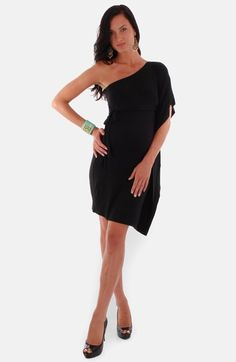 Everly Grey 'Bennet' One-Shoulder Maternity Dress at Nordstrom.com. An alluring one-shoulder silhouette shapes a comfortable knit dress with plenty of stretch to keep you comfortable as you grow.