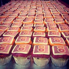 Cupcakes enjoyed at the DD Mothership in celebration of the Dunkin' App launch. Click on pin to get the app for iPhone or Android!