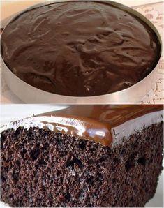 [INGREDIENTES] 1 xícara (chá) de óleo 1 xícara (chá) de água fervendo 1 Colher de (sopa) de fermento em pó 2 xícaras (chá) de açucar 2 xícaras (chá) farinha de trigo 1 xícara de chá de chocolate em pó 4 ovos Recheio e Cobertura Granulado de... Sweet Life, Pudding, Diet, Banana, Desserts, Apollo, Food, Birthday Cakes, Sweet Like Candy