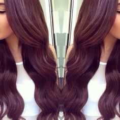 Soft burgundy hair color #long #hair