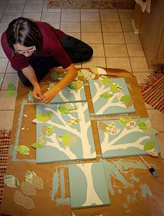 Homemade Nursery Wall Art - Multi-Picture Art DIY