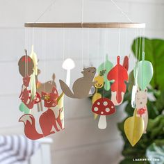 Papercut Woodland Baby Mobile
