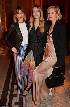 Three's a crowd: Savannah posed alongside Lady Alice Manners and Georgie Macintyre...
