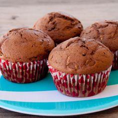 Chocolate Zucchini Spice Muffins