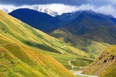 By Gia Kharatiani Georgian, Mountains, Nature, Travel, Naturaleza, Viajes, Georgian Language, Trips, Nature Illustration