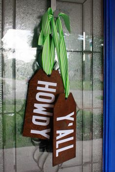 DIY Wood Tag Door Hangers