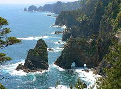 Kitayamazaki Coast in Northern Iwate Prefecture.