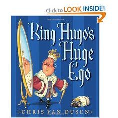 King Hugo gets cursed that his head will grow every time he boasts. Cute illustrations and good message