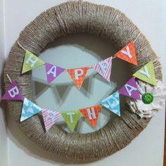 Happy birthday wreath for Maya!
