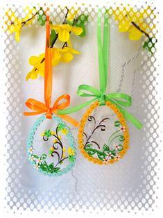 Quillingové variace velikonoční / Zboží prodejce jas.nadka | Fler.cz Paper Quilling Designs, Quilling Craft, Quilling Flowers, Quilling Earrings, Suncatchers, Paper Art, Snowflakes, Wreaths, Quilling Ideas
