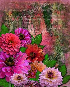 ART WATERCOLOR PRINT of Pink and Orange by ChangingArtitudes