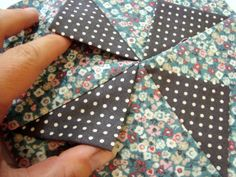 3-D Prairie Point Pinwheel Quilt Block Tutorial | patchworkposse | easy sewing projects and free quilt patterns