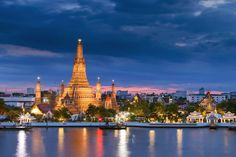 Wat Arun -Located in the Bangkok Yai district on the west bank of the Chao Phraya River.