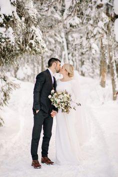 Winter Mountain Wedding at Lake Louise in Banff National Park