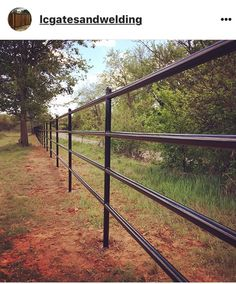 Four rail pipe fence