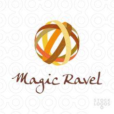 Magic Ravel by Artbrigadir. 3d logo design. Sphere, globe, ball, abstract. #logo, #logodesign, #logotype