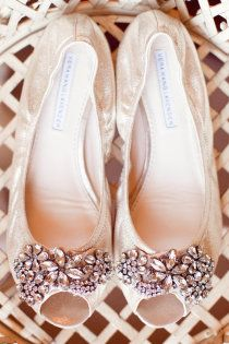 BRIDE - Vera Wang- wedding flats. *I'm really tall (and taller than my future husband) so flats would be great under my dress. Although I do love the idea of blue shoes but maybe I'll find another way to add blue. - KM