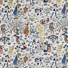 Have a WONDERful day!  Fabric 1920 Great Britain designed by Charles Francis Voysey