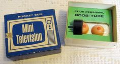 Vintage Joke Gag Gift '60s Pocket Size Mini Television TV Boob Tube #gotvintage #gagGift #vintage