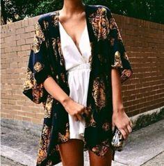 Coat: tiger kimono, printed, love this outfit, jacket, kimono ...