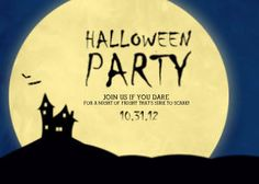 Mixbook Haunted House Halloween Cards and Invitations